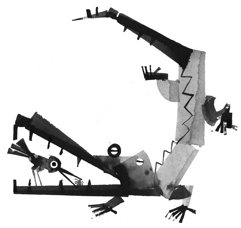 krokotiili ja lintu